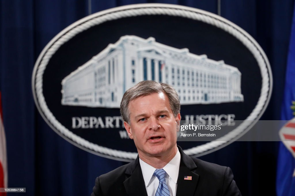 Justice Department Holds Briefing On Arrest Of A Suspect In Mail Bombing Case : News Photo
