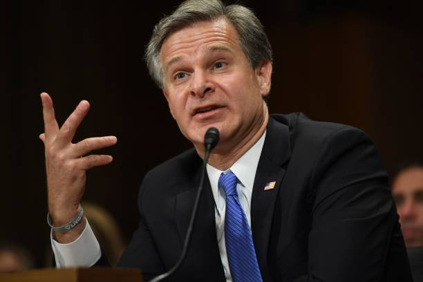 DC: FBI Director Christopher Wray Testifies Before The Senate Judiciary Committee