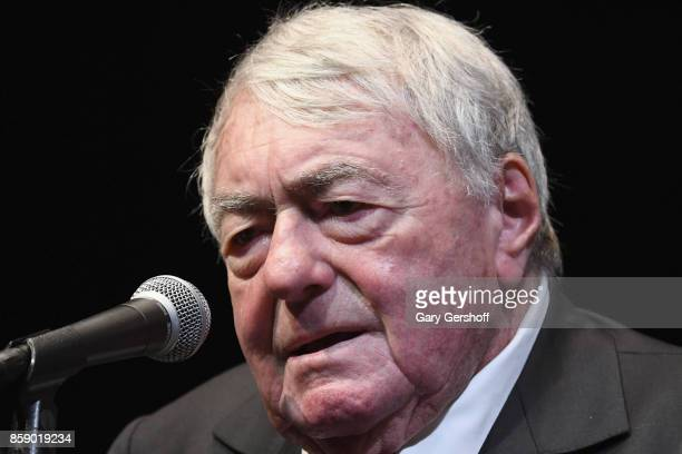 Director Claude Lanzmann introduces Four Sisters The Hippocratic Oath during the 55th New York Film Festival at The Film Society of Lincoln Center...