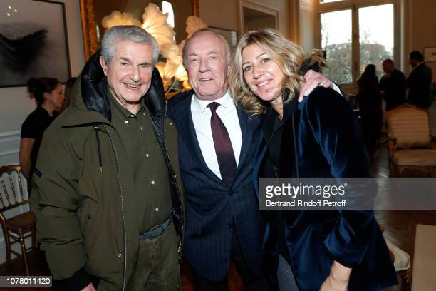 Director Claude Lelouch Actor James Caan and Director of the movie Holy Lands Amanda Sthers attend James Caan receives the 'Medaille Vermeille de la...
