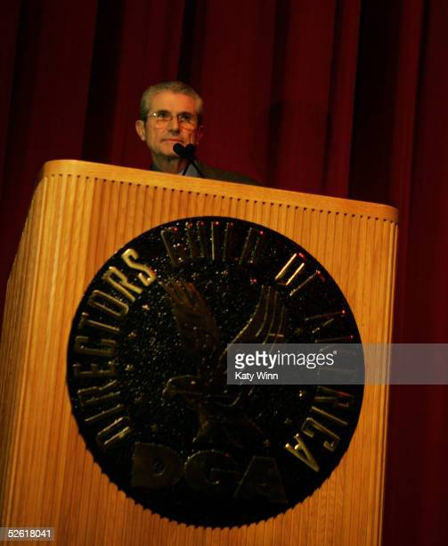 Director Claude Lelouch addresses the audience at the 9th Annual City of Lights, City of Angels Film Festival held at the Directors Guild building on...