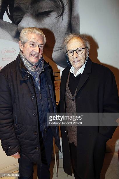 Director Claude Lelouch and Actor JeanLouis Trintignant attend 'Un Homme et Une Femme' screening for its 5Oth Anniversary at l'Arlequin on November 6...