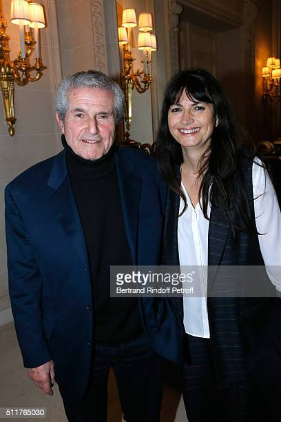 Director Claude Lelouch and his companion Valerie Perrin attend the 'Diner des Producteurs' Producer's Dinner Cesar 2016 at Four Seasons Hotel George...
