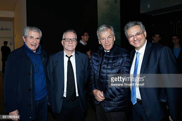 Director Claude Lelouch General Delegate of the Cannes Film Festival Thierry Fremaux President of Cinematheque Francaise Constantin CostaGavras and...