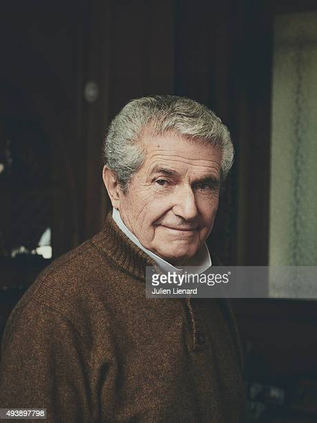 Director Claude Lelouch is photographed for Le Film Francais on October 19 2015 in Paris France
