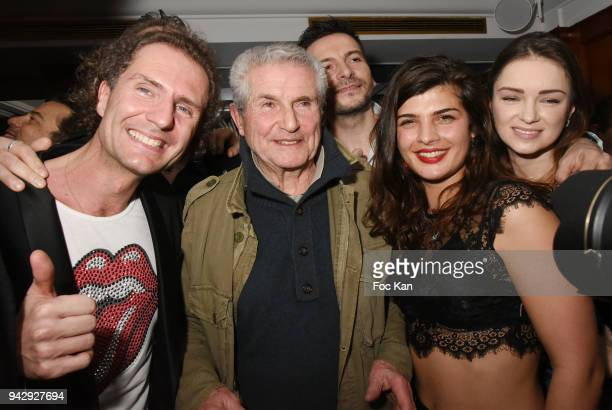 Director Claude Lelouch Nicolas MereauÊ and guests attend the the Nicolas Mereau Birthday Party At Club 13 on April 6 2018 in Paris France