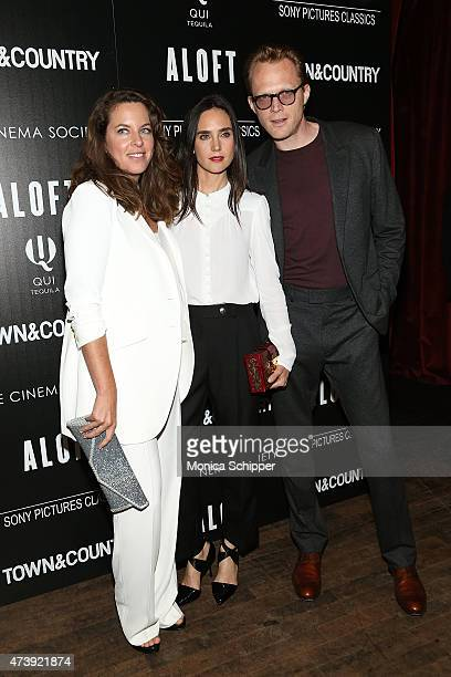 Director Claudia Llosa and actors Jennifer Connelly and Paul Bettany attend The Cinema Society with Town Country host a special screening of Sony...
