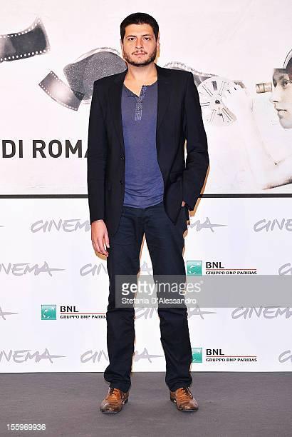 Director Claudio Giovannesi attends the Ali Ha Gli Occhi Azzurri Photocall during the 7th Rome Film Festival at the Auditorium Parco Della Musica on...