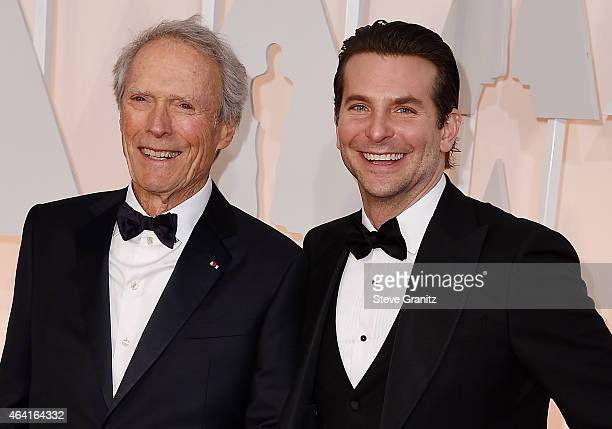Director Clint Eastwood and actor Bradley Cooper attend the 87th Annual Academy Awards at Hollywood Highland Center on February 22 2015 in Hollywood...