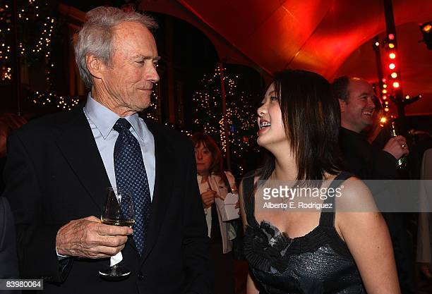 Director Clint Eastwood and actress Ahney Her attend the after party for the world premiere of Warner Bros Pictures' Gran Torino held at Warner Bros...