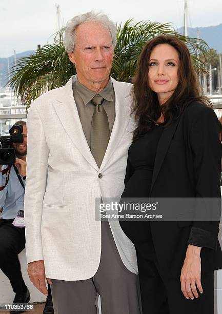 Director Clint Eastwood and actress Angelina Jolie attend the 'Changeling' photocall at the Palais des Festivals during the 61st Cannes International...
