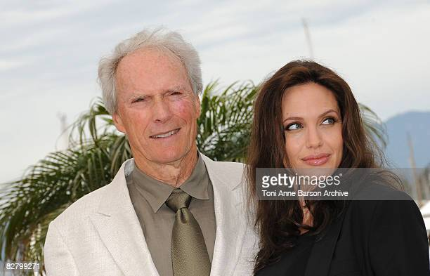 Director Clint Eastwood and actress Angelina Jolie attend the Changeling photocall at the Palais des Festivals during the 61st Cannes International...