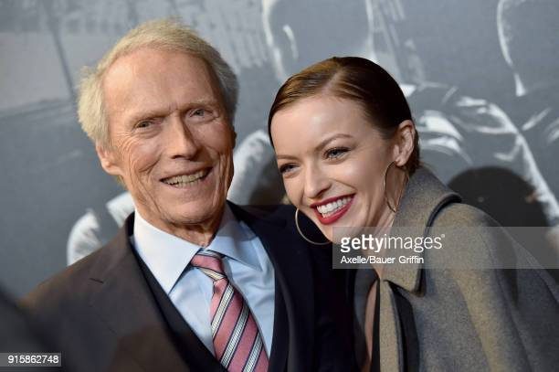 Director Clint Eastwood and daughter Francesca Eastwood attend the premiere of 'The 1517 To Paris' at Warner Bros Studios on February 5 2018 in...