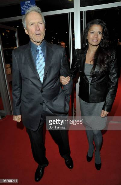 Director Clint Eastwood and his wife Dina Ruiz attend the Invictus film premiere at the Odeon West End on January 31 2010 in London England