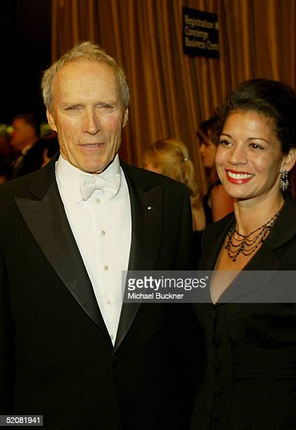 Director Clint Eastwood and his wife Dina RuizEastwood arrive at the 57th Annual DGA Awards Dinner on January 29 2005 in Beverly Hills California