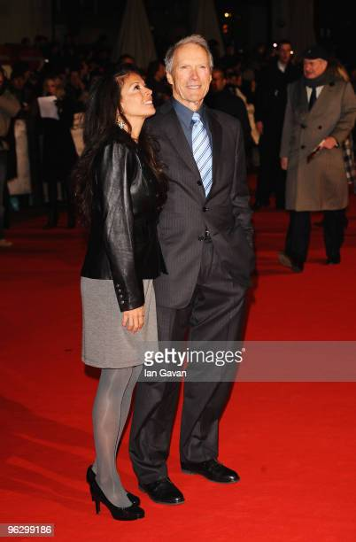 Director Clint Eastwood and wife Dina attend the UK premiere of Invictus at the Odeon West End on January 31 2010 in London England