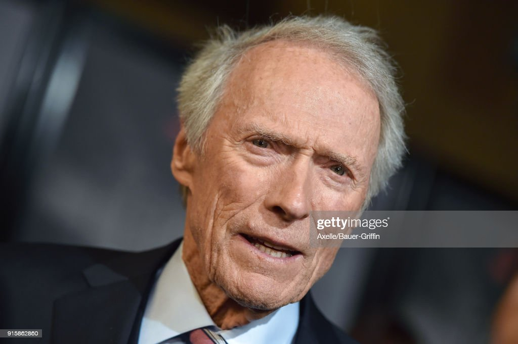 Director Clint Eastwood attends the premiere of 'The 15:17 To Paris' at Warner Bros. Studios on February 5, 2018 in Burbank, California.