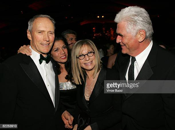 Director Clint Eastwood his wife Dina RuizEastwood singer/actress Barbra Streisand and husband actor James Brolin attend the Governors Ball after the...