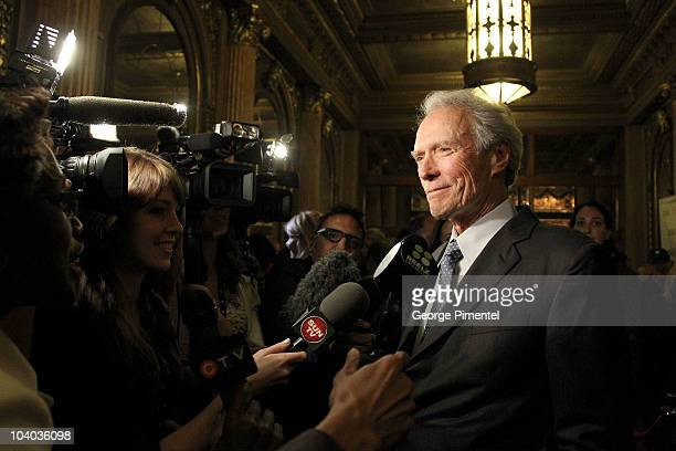 Director Clint Eastwood is interviewed as he attends the 'Hereafter' Premiere held at The Elgin during the 35th 2010 Toronto International Film...