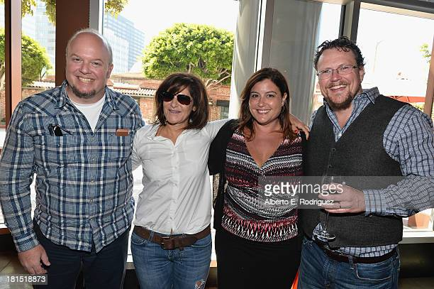 Director Cody Cameron Co Chairman of Sony Pictures Entertainment Amy Pascal Sony Pictures Animations' Michelle Raimo Kouyate and director Kris Pearn...