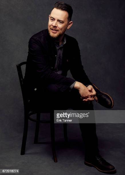 Director Colin Hanks from 'The Amazing Adventures of Wally and the Worm' pose at the 2017 Tribeca Film Festival portrait studio on April 22 2017 in...