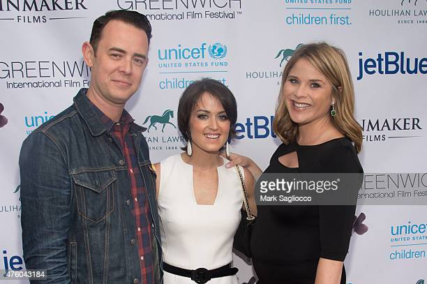 Director Colin Hanks GIFF Founder Wendy Stapleton Reyes Television Personality Jenna Bush Hager attend the Greenwich International Film Festival...