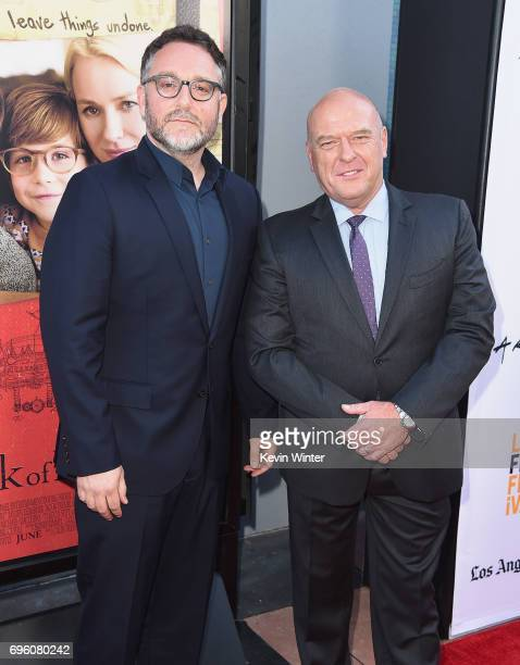 Director Colin Trevorrow and actor Dean Norris attend the opening night premiere of Focus Features' 'The Book of Henry' during the 2017 Los Angeles...