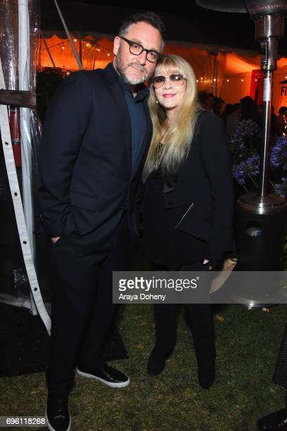 Director Colin Trevorrow and singersongwriter Stevie Nicks attend the Opening Night Party during the 2017 Los Angeles Film Festival at Culver Studios...