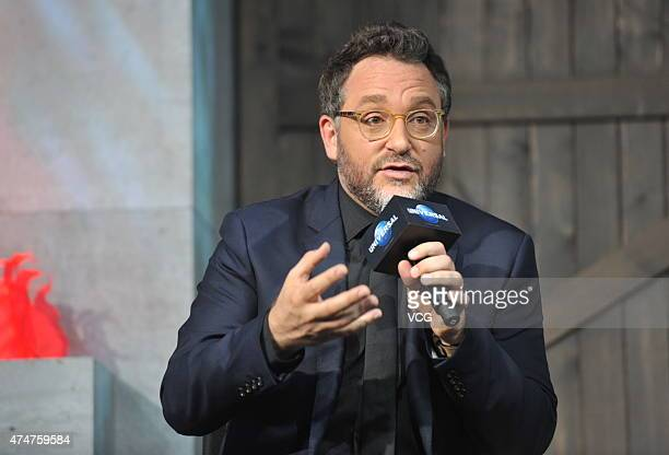 Director Colin Trevorrow attends 'Jurassic World' press conference at Yintai Centre on May 26 2015 in Beijing China