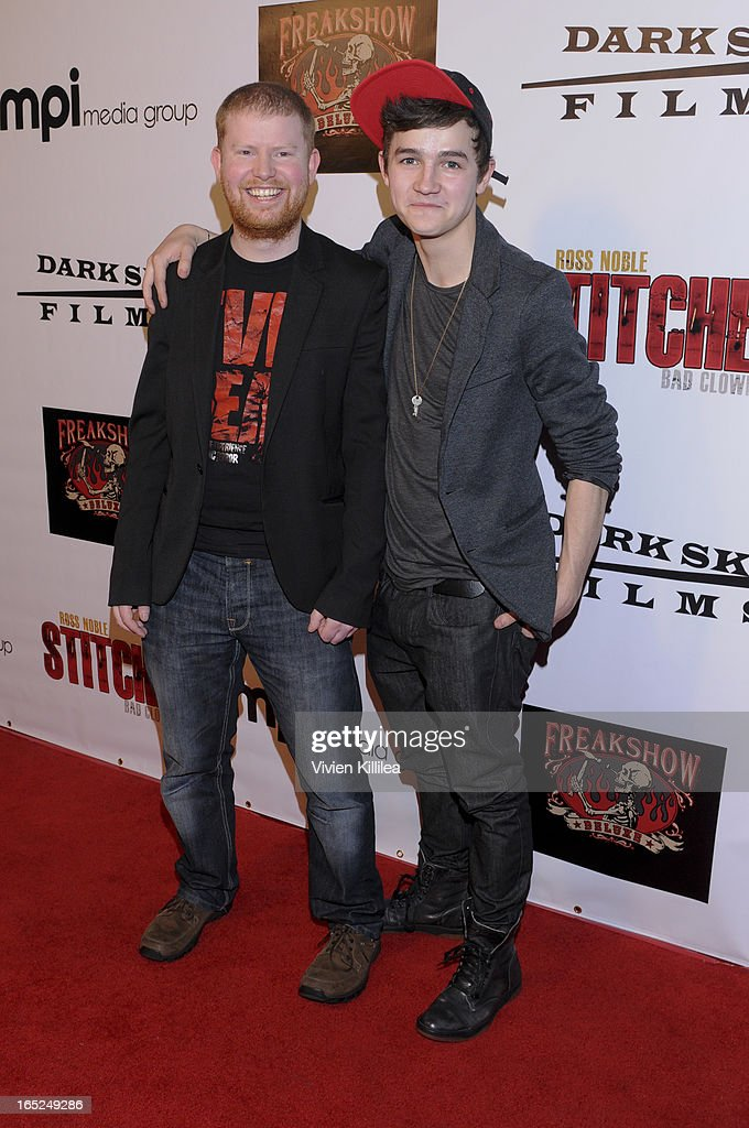 Director Conor McMahon and actor Tommy Knight attend 'Stitches' - Los Angeles Premiere at Cinespace on April 1, 2013 in Los Angeles, California.