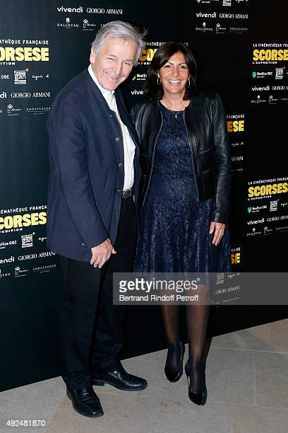 Director Constantin CostaGavras and Mayor of Paris Anne Hidalgo attend the Tribute to Director Martin Scorsese at Cinematheque Francaise on October...