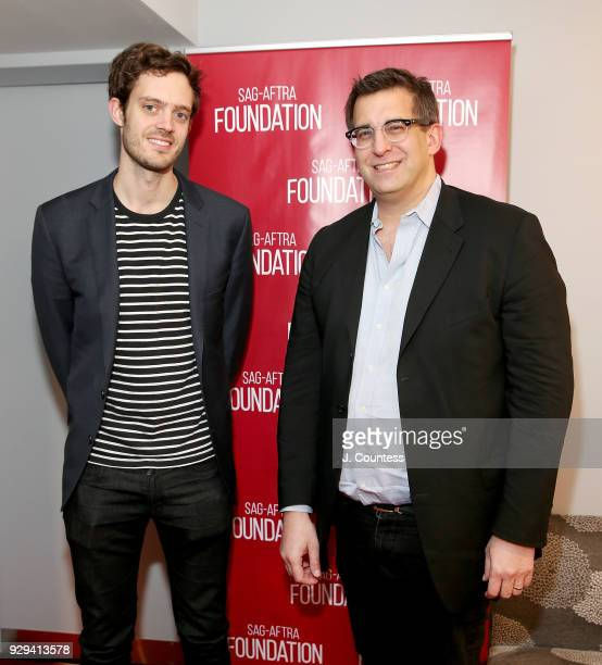 Director Cory Finley and discussion moderator journalist Joshua Rothkopf attend SAGAFTRA Foundation Conversations 'Thoroughbreds' at The Robin...