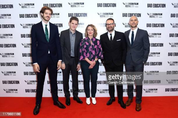 Director Cory Finley and producer Mike Makowsky BFI London Film Festival Director Tricia Tuttle and producers Eddie Vaisman and Fred Berger attend...