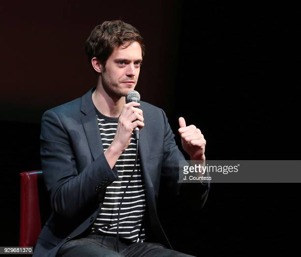 Director Cory Finley speaks during SAGAFTRA Foundation Conversations 'Thoroughbreds' at The Robin Williams Center on March 8 2018 in New York City