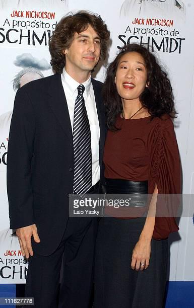 Director / coscreenwriter Alexander Payne and wife Sandra Oh