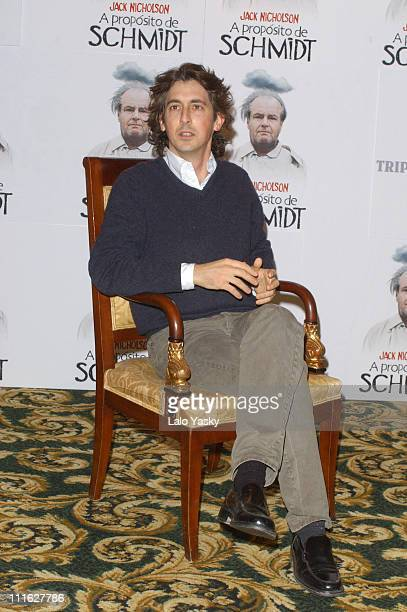 Director / coscreenwriter Alexander Payne during Alexander Payne at Promotional Photocall for His Latest Film About Schmidt at Palace Hotel in Madrid...