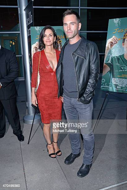Director Courteney Cox and musician Johnny McDaid attend a screening of Anchor Bay Entertainment's film Just Before I Go at ArcLight Hollywood on...