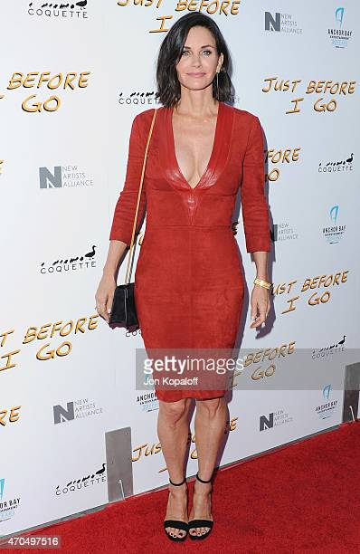 Director Courteney Cox arrives at the Los Angeles Special Screening of 'Just Before I Go' at ArcLight Hollywood on April 20 2015 in Hollywood...