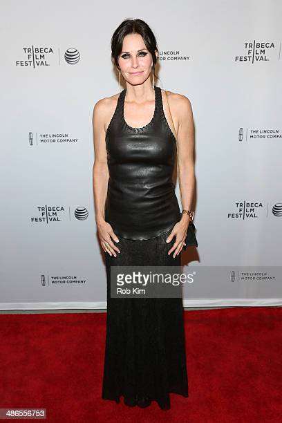 Director Courteney Cox attends the 'Just Before I Go' Premiere during the 2014 Tribeca Film Festival at the SVA Theater on April 24 2014 in New York...