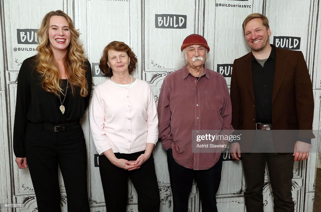 Director Courtney Balaker, Susette Kelo, musician David Crosby and producer Ted Balaker discuss the film 'Little Pink House' at Build Studio on April 16, 2018 in New York City.