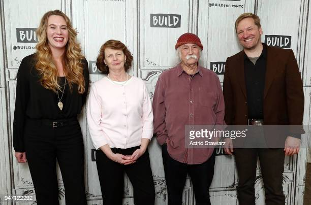 Director Courtney Balaker Susette Kelo musician David Crosby and producer Ted Balaker discuss the film 'Little Pink House' at Build Studio on April...