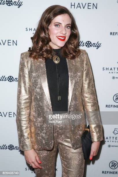 Director Courtney Hoffman attends Refinery29's Shatterbox Anthology premiere of Courtney Hoffman's 'The Good Time Girls' on August 1 2017 in Los...