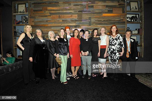 Director Courtney Marsh producer Imogen Sutton director Dee HibbertJones Finola Dwyer costume designer Sandy Powell president of Women In Film LA...