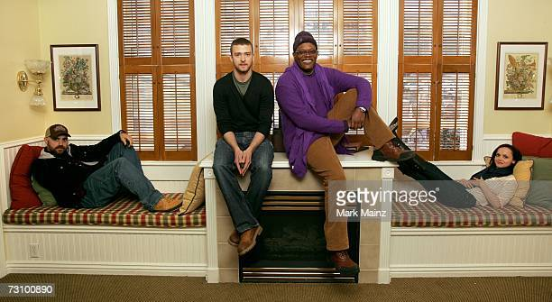 Director Craig Brewer actors Justin Timberlake Samuel L Jackson and Christina Ricci from the film Black Snake Moan pose for a portrait during the...