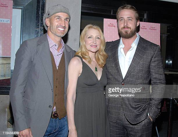 Director Craig Gillespie actress Patricia Clarkson and actor Ryan Gosling at the NY Premiere Of 'Lars And The Real Girl' at the Paris Theatre in New...