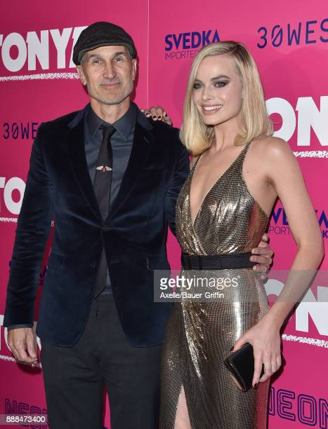 Director Craig Gillespie and actress Margot Robbie attend the Los Angeles premiere of 'I Tonya' at the Egyptian Theatre on December 5 2017 in...