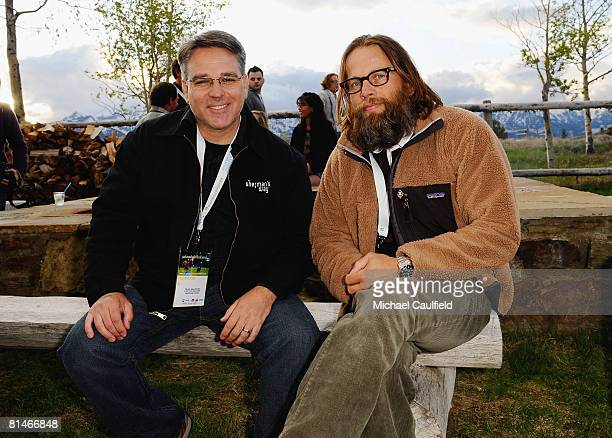 Director Craig Saavedra and actor James LeGros attend the opening night reception during the 5th annual Jackson Hole Film Festival at the Spring...