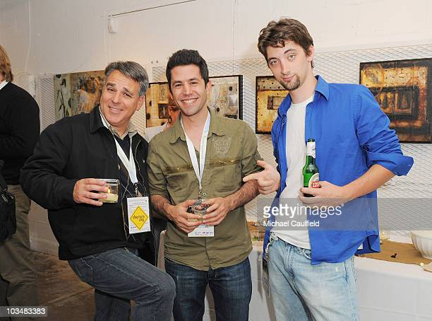 Director Craig Saavedra director James Lester and Matthew Stevens attend the Filmmaker Gathering at the Lyndsay McCandless gallery during the 5th...
