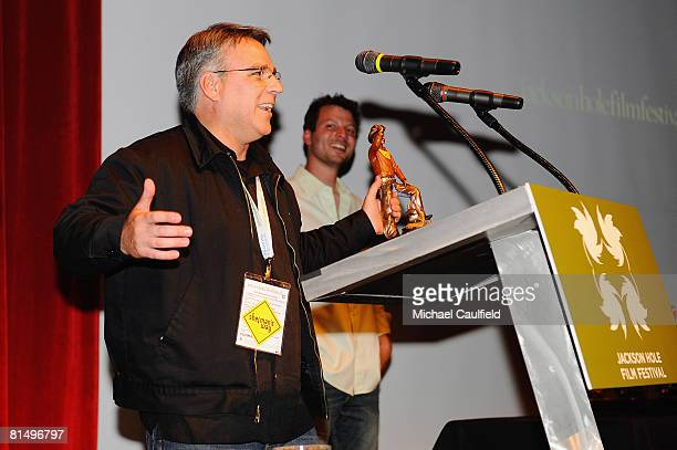 Director Craig Saavedra speaks on stage at the Awards Ceremony during the 5th annual Jackson Hole Film Festival on June 8 2008 in Jackson Hole Wyoming