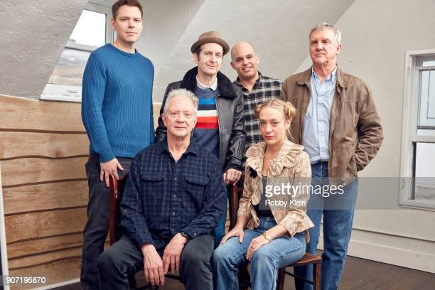 Director Craig William Macneill Actors Jeff Perry Denis O'Hare Chloe Sevigny and Jamey Sheridan from the film 'Lizzie' pose for a portrait in the...